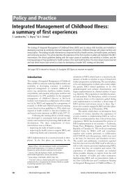 a summary of first experiences - Extranet Systems - World Health ...