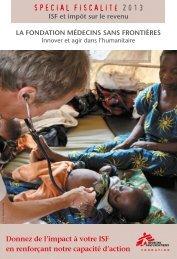 Plaquette Fondation MSF - Médecins Sans Frontières