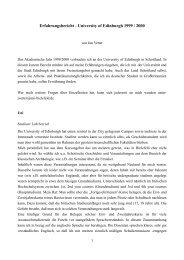 Erfahrungsbericht - University of Edinburgh 1999 / 2000 - Universität ...