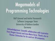 Ralf Lämmel and Andrei Varanovich Software Languages Team ...