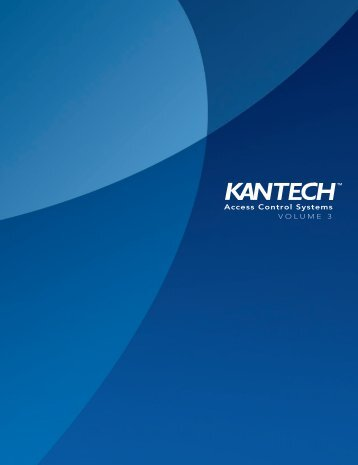 Kantech Product Guide - IP CCTV GmbH