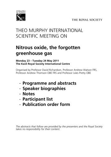 Nitrous oxide, the forgotten greenhouse gas - The Royal Society