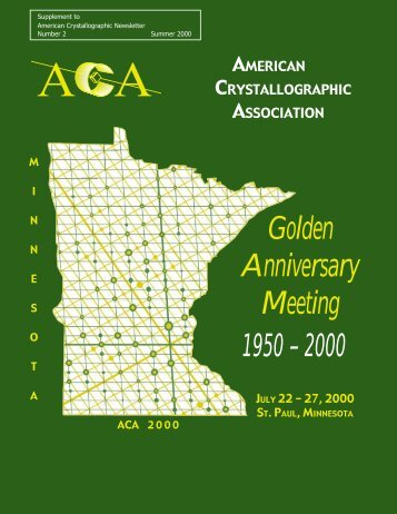 Inside Pages - American Crystallographic Association