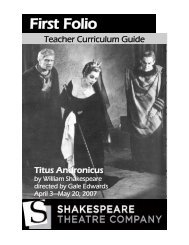 First Folio - The Shakespeare Theatre Company