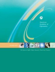 2005 Annual Report - American Academy of Optometry