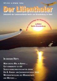 Zeitschrift der Landesverbände Berlin und ... - lilienthaler-online