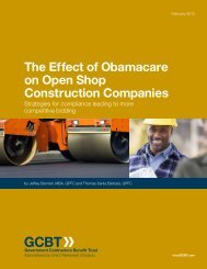 The Effect of Obamacare on Open Shop Construction Companies