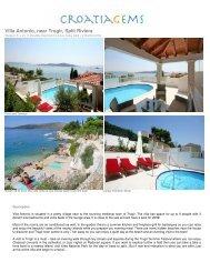 Villa Antonio, near Trogir, Split Riviera - CroatiaGems