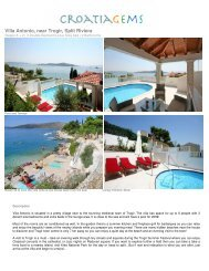 Villa Antonio, near Trogir, Split Riviera - CroatiaGems