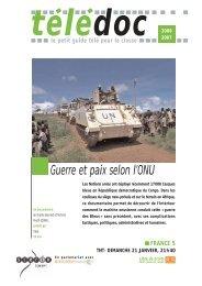 Guerre et paix selon l'ONU - CNDP
