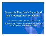 Savannah River Site's Superfund Job Training Initiative ... - SRS CAB