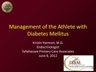 Management of the Athlete with Diabetes Mellitus