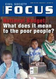 National Budget: What does it mean to the poor people?