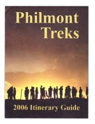 PHILMONT TREKS - 2006 Itinerary Guide