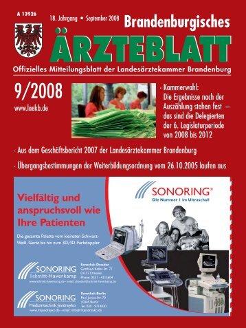 September 2008 - Landesärztekammer Brandenburg