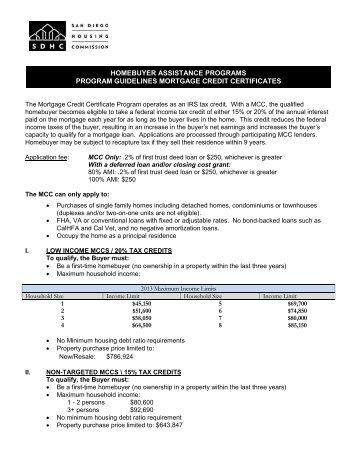 Mortgage Credit Certificate - Foster City