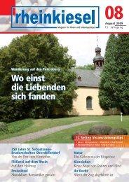 350 Jahre St. Sebastianus- Bruderschaften ... - Rheinkiesel