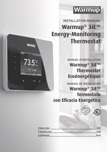 Guide d'installation du thermostat 3iE - In Floor Heating