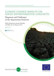 Climate Change Impacts on Socio-Environmental Conflicts