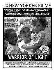 WARRIOR OF LIGHT - New Yorker Films