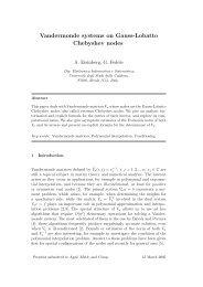 Vandermonde systems on Gauss-Lobatto Chebyshev nodes