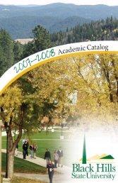 2007-2008 - Black Hills State University