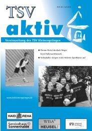 Vereinszeitung des TSV Kleinengstingen