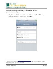 Installing Exchange Active Sync on an Apple Device - New Jersey ...