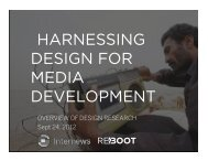 countryofficekickoff - Harnessing Design for Media Development