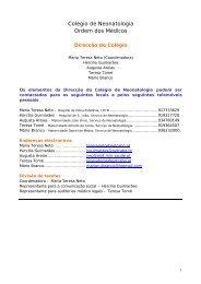 Admissão à formação pós graduada - Secção de Neonatologia SPP ...