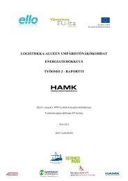 2. Logistiikka-alueen ympäristönäkökohdat - ELLO