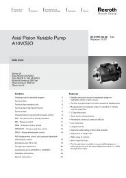 Axial Piston Variable Pump A10V(S)O - Group VH A/S