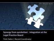 Synergy from quicksilver: Integration at the Legal Practice Board ...