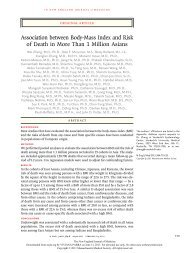 Association between Body-Mass Index and Risk of Death in ... - Library