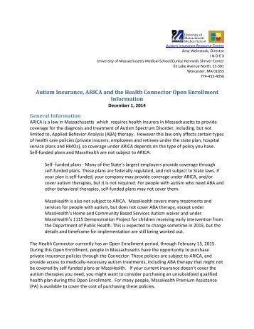 Autism Insurance Arica And Health >> Masshealth Magazines