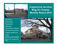 Code Enforcement 2010 October Report - City of Springfield