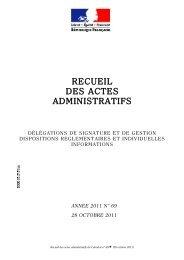 Recueil des actes administratifs n° 69 du 28 octobre 2011