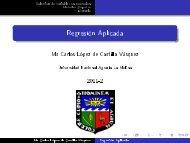 Regresión Aplicada - Universidad Nacional Agraria La Molina