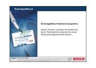 Backstage@Bosch Nachwuchsprogramme - Bosch-Career