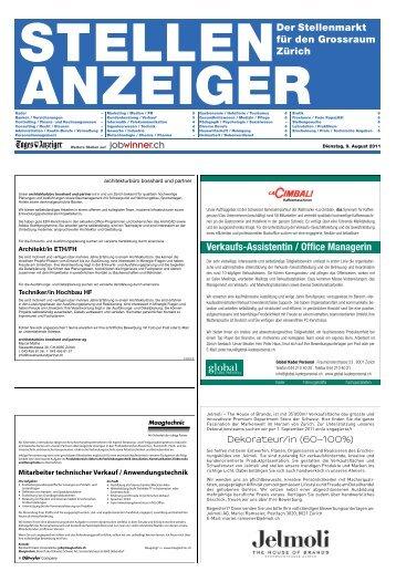 Verkaufs-Assistentin / Office Managerin - E-Paper Anmeldung ...