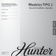 Modelos TIPO 2 - Hunter Fan