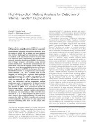 High-Resolution Melting Analysis for Detection of Internal Tandem ...