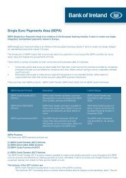 Single Euro Payments Area (SEPA) - Bank of Ireland