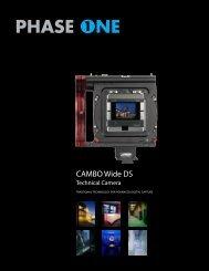 Download Cambo W DS Product Sheet PDF - Vistek