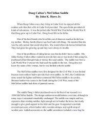 Doug Caltons McClellan Saddle by John Haws - Lehi City