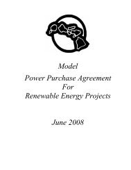 Model Power Purchase Agreement For Renewable Energy Projects ...