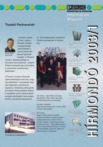 Magazin letöltése (PDF 2,40 MB) - PHOENIX CONTACT | Magyar ...