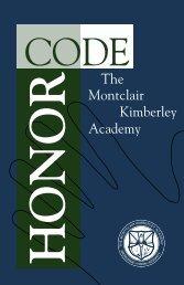 Honor Code copy.indd - Montclair Kimberley Academy