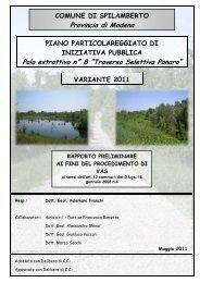 Rapporto Ambientale ai fini della Verifica di Assoggettabilità a VAS