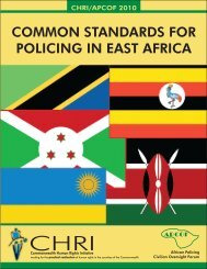 common standards for policing in east africa - Commonwealth ...